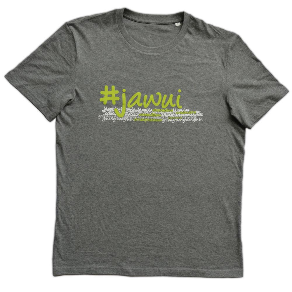 "T-Shirt ""Jawui"" Grau Melange"