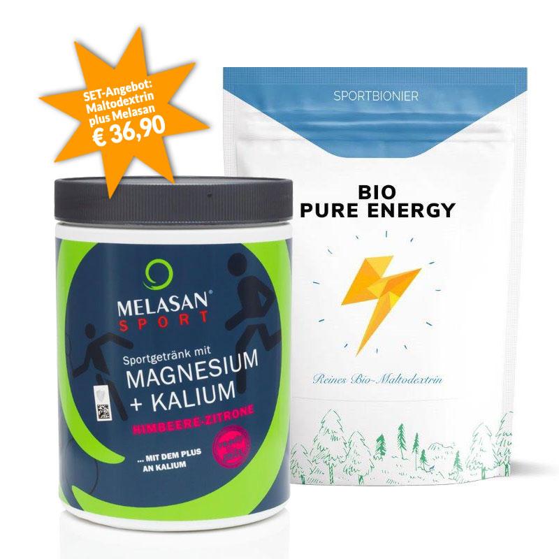 Sportbionier Bio Maltodextrin und Melasan Magnesium/Kalium Himbeer-Zitrone