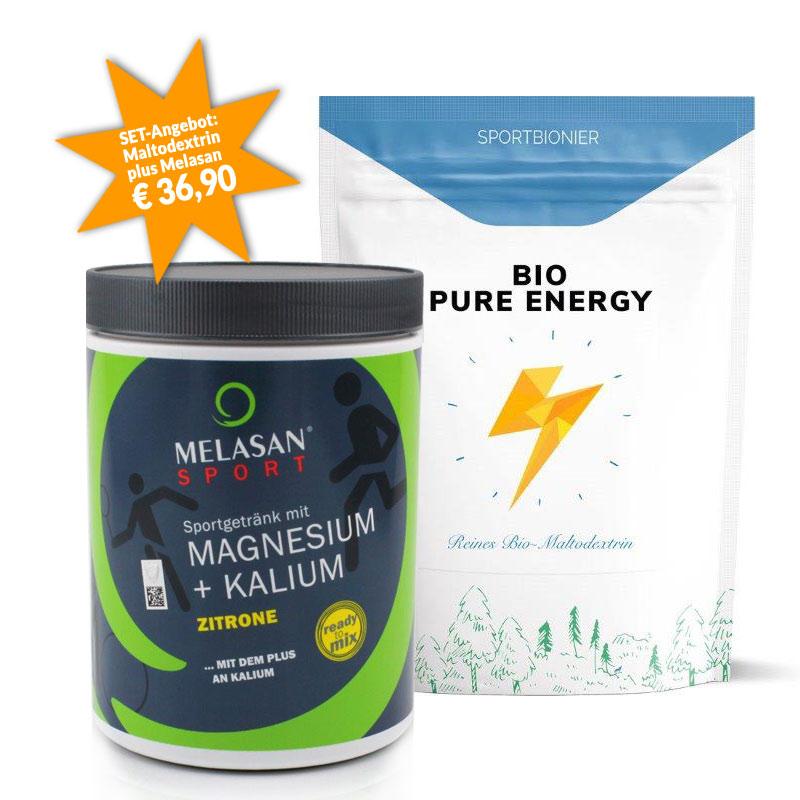 Sportbionier Bio Maltodextrin und Melasan Magnesium/Kalium Zitrone