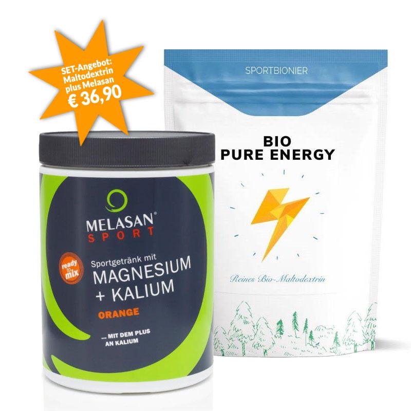 Sportbionier Bio Maltodextrin und Melasan Magnesium/Kalium Orange