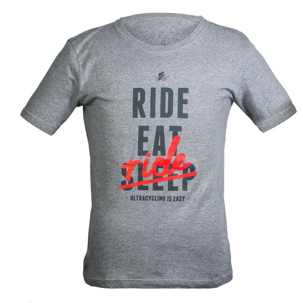 """T-Shirt """"Ride. Eat. Ride."""" - Farbe Grau"""
