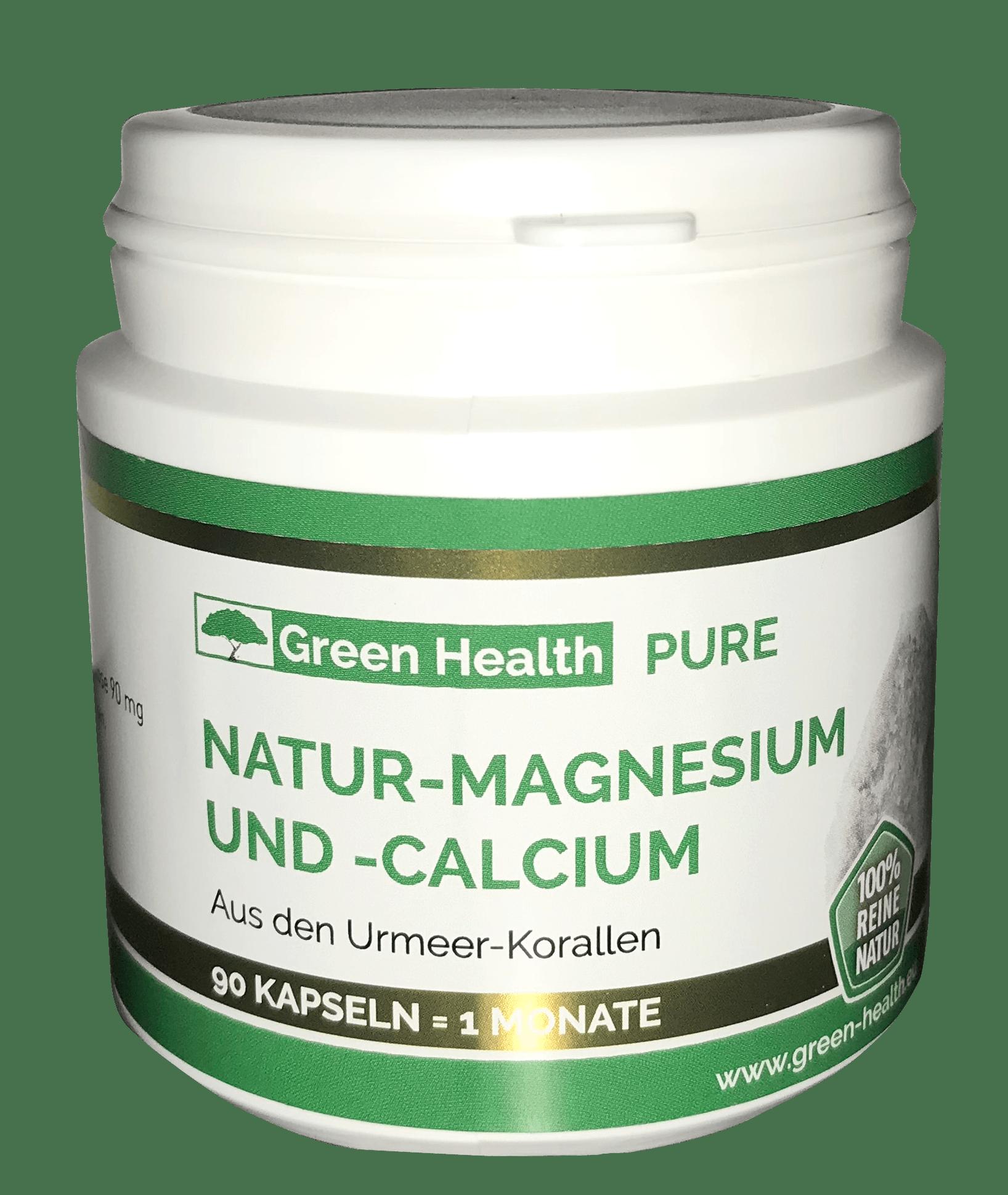 Green Health Pure Natur Magnesium und Calcium - 90 Kapseln