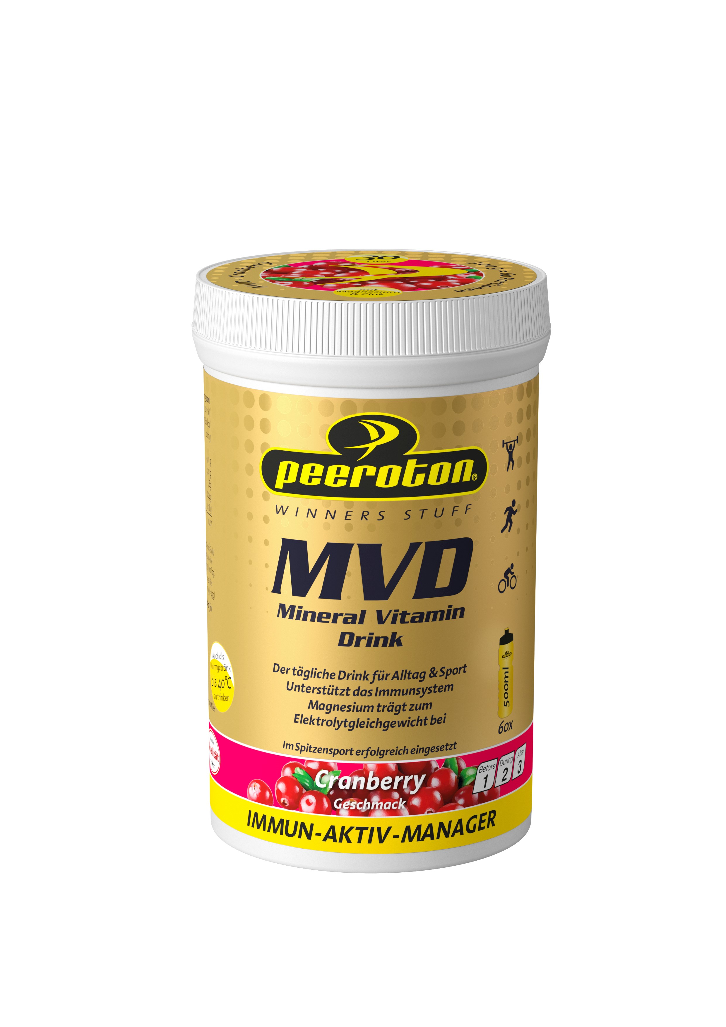 Peeroton MINERAL VITAMIN Drink Cranberry 300g ( für 30 Liter Getränk) - Immun Aktiv