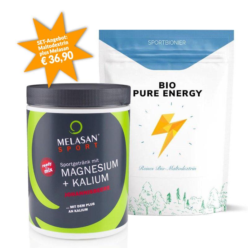 Sportbionier Bio Maltodextrin und Melasan Magnesium/Kalium Johannisbeere