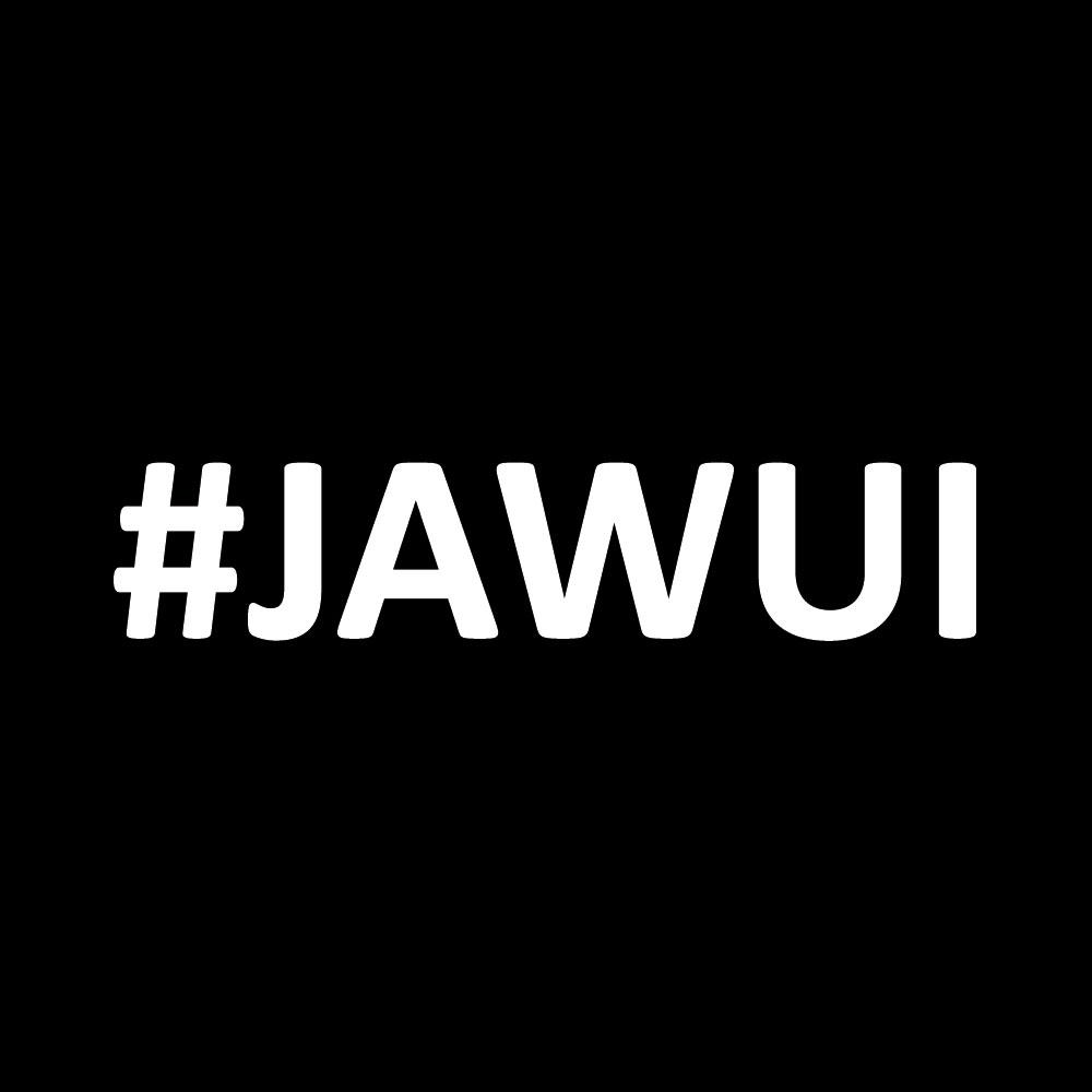 Sticker #jawui - WEISS