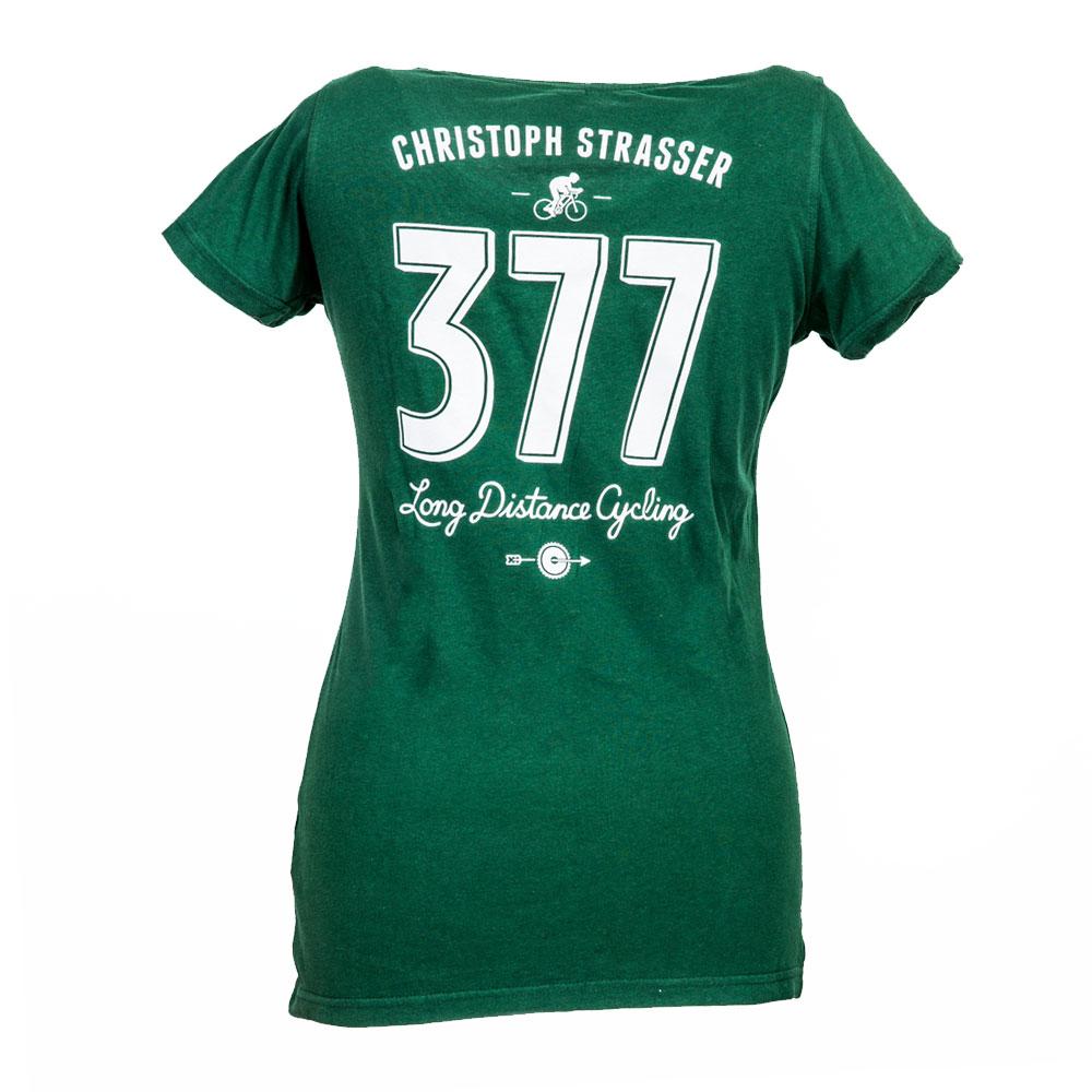 "Damen-Shirt ""377 - long distance cycling - Bottle Green"""