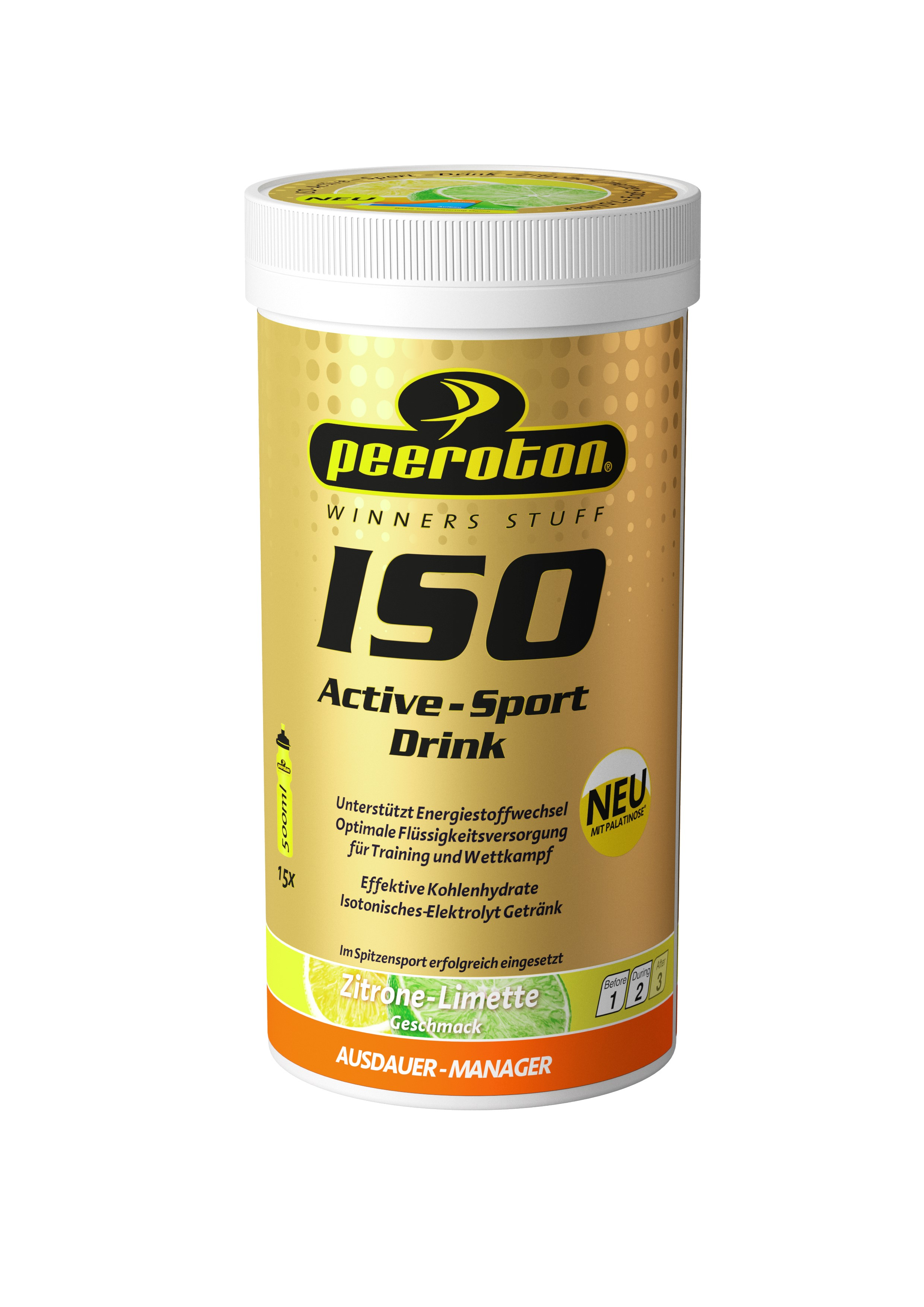 Peeroton ISO-ACTIVE Sportdrink 300g Zitrone-Limette // Ausdauer
