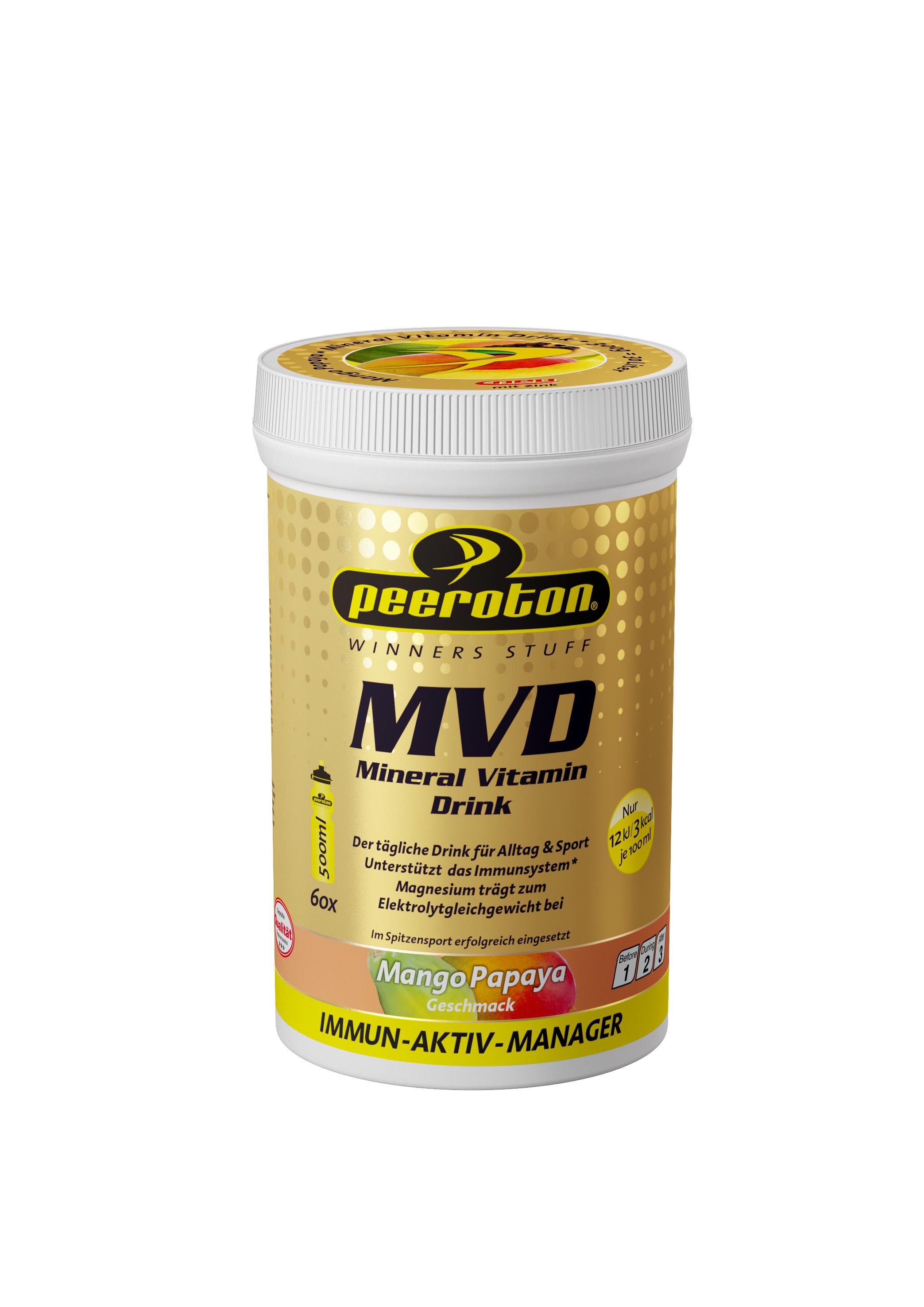 Peeroton MINERAL VITAMIN Drink Mango-Papaya 300g ( für 30 Liter Getränk) - Immun Aktiv