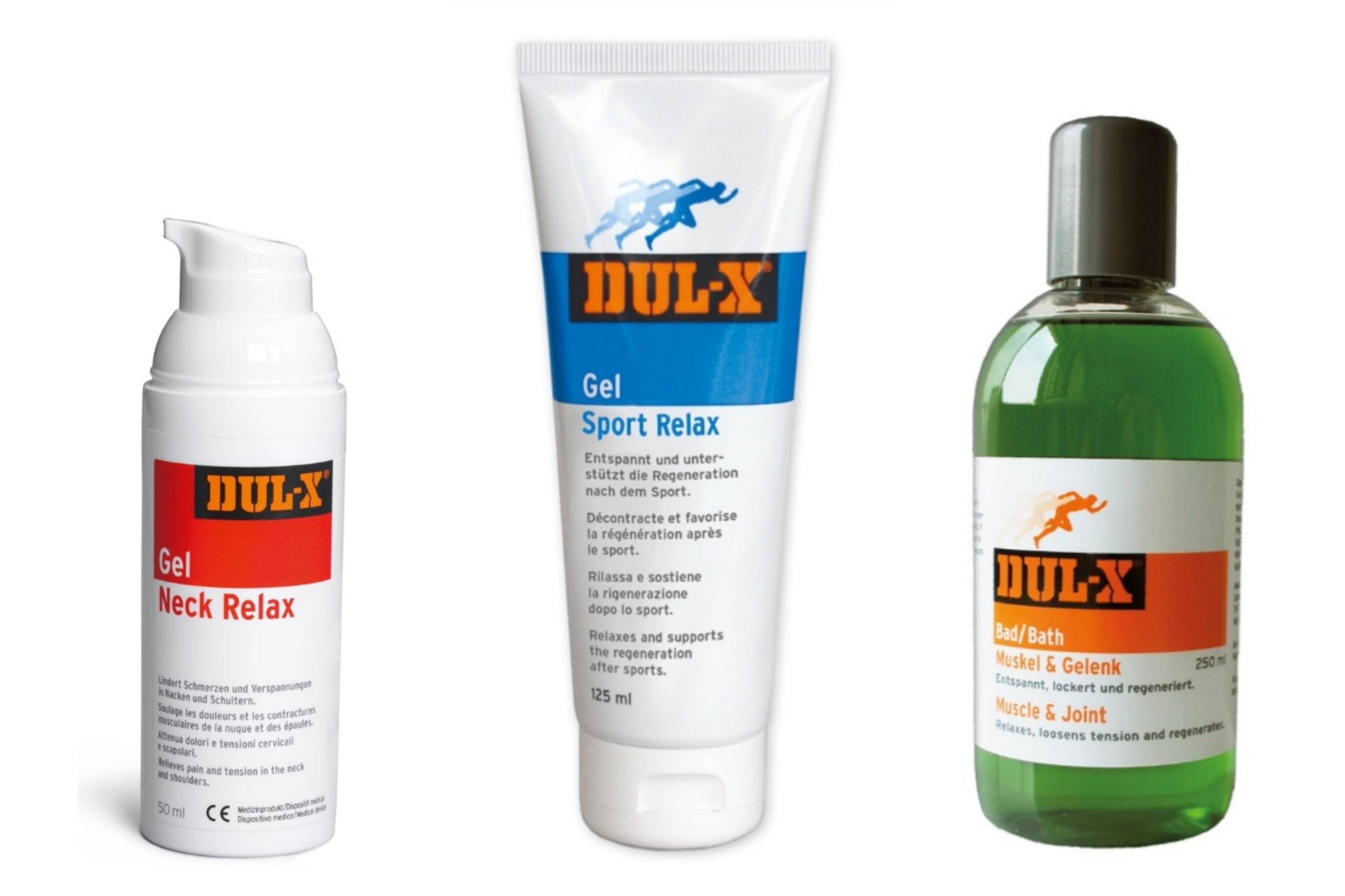 DUL-X Paket - Muskel/Gelenkbad, Sport Relax und Neck Relax Gel
