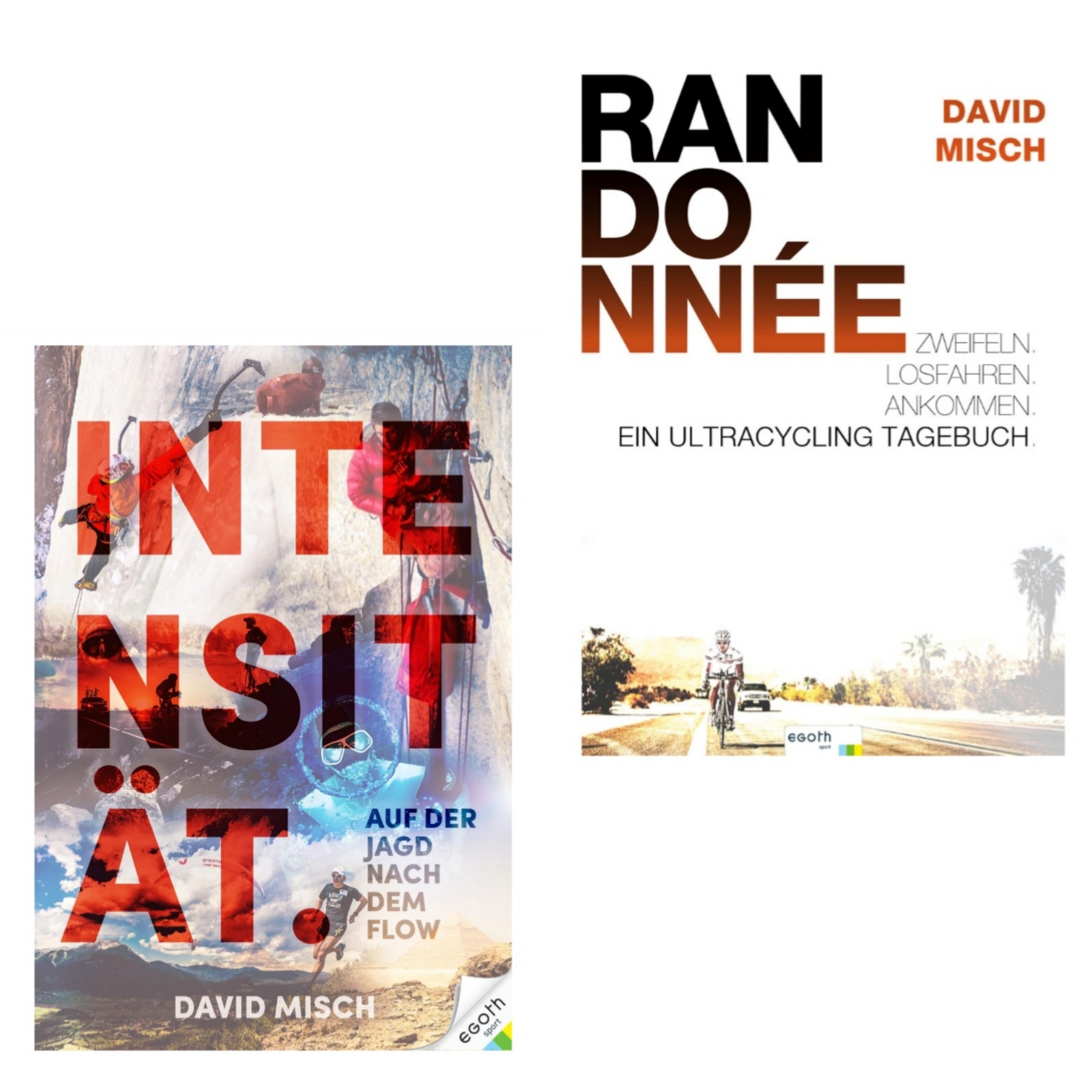 """Buch-Set """"Intensität. Auf der Jagd nach dem Flow & Randonnée. Ein Ultracycling-Tagebuch."""" Von David Misch"""