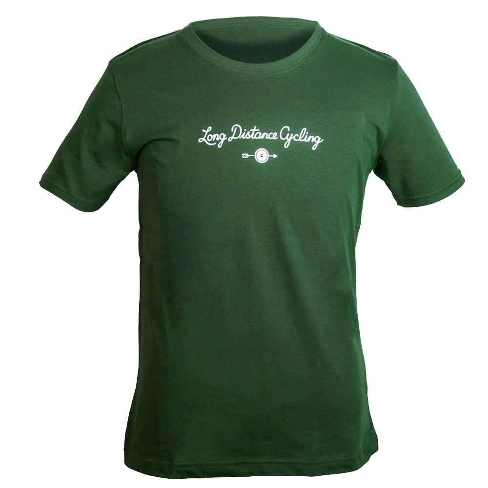 """T-Shirt """"377 - long distance cycling"""" - Dunkelgrün"""