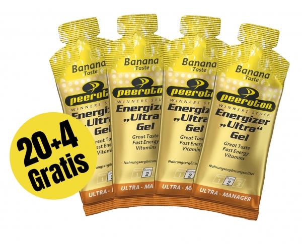 Peeroton ENERGIZER ULTRA Gel 40g Banane, 20+4 Gratis