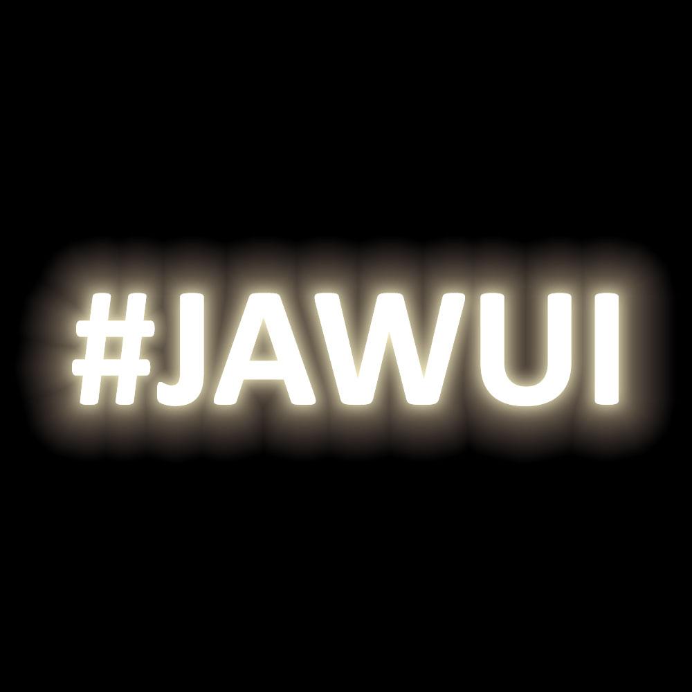 Sticker #jawui - SILBER (WEISS REFLEKTIEREND)