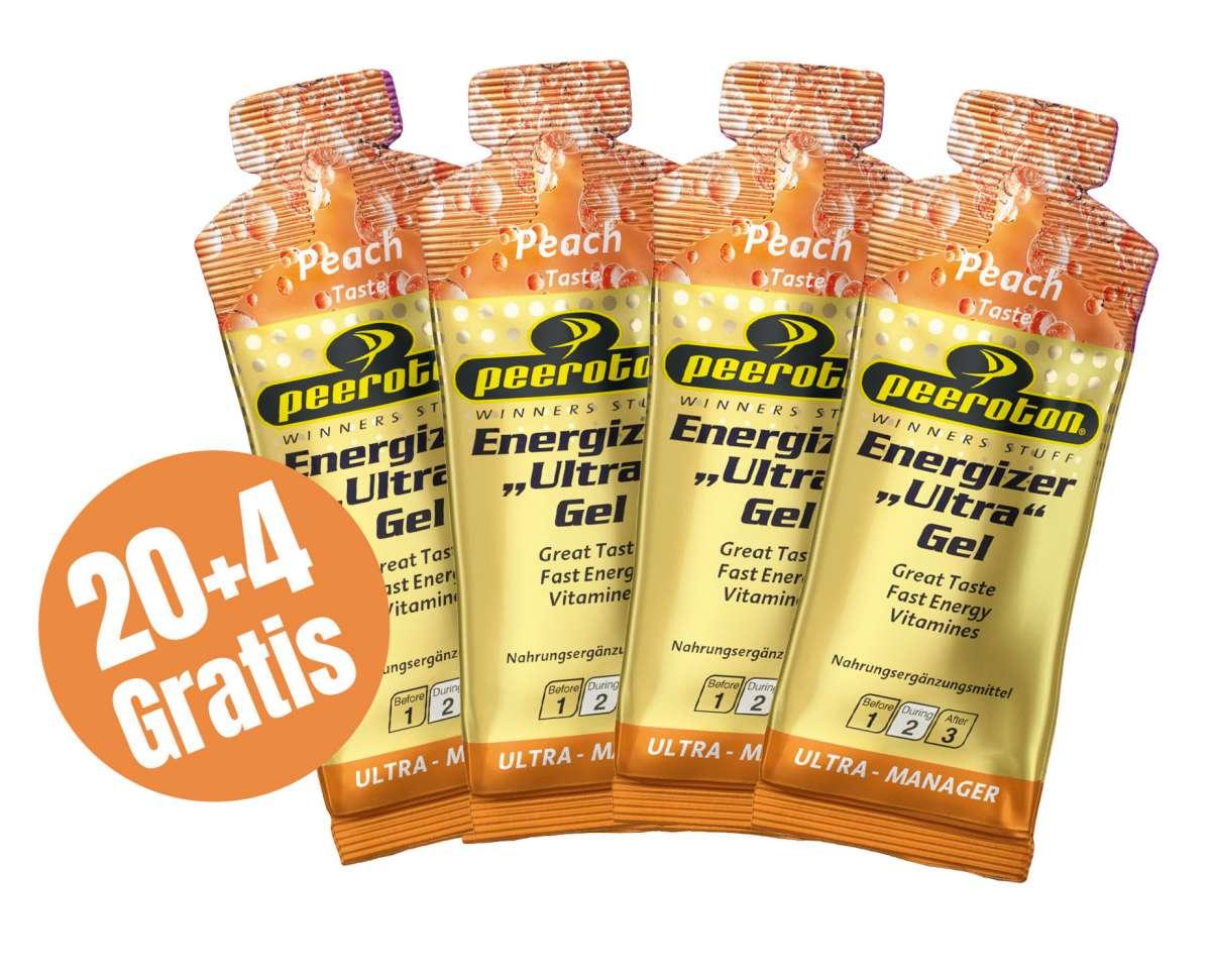 Peeroton ENERGIZER ULTRA Gel 40g Pfirsich, 20+4 Gratis