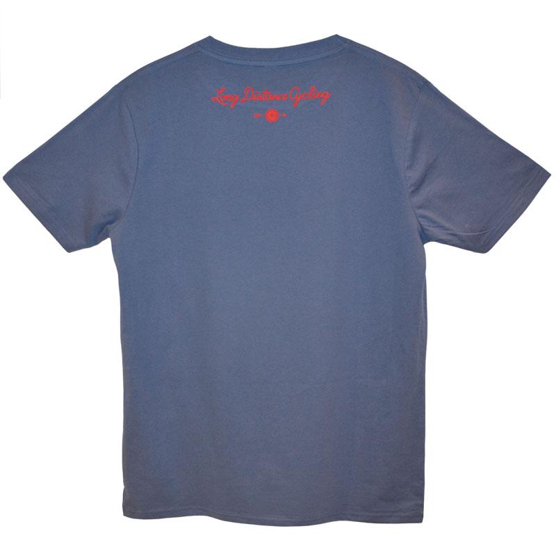"T-Shirt ""Ride. Eat. Ride."" - Farbe Faded Denim"