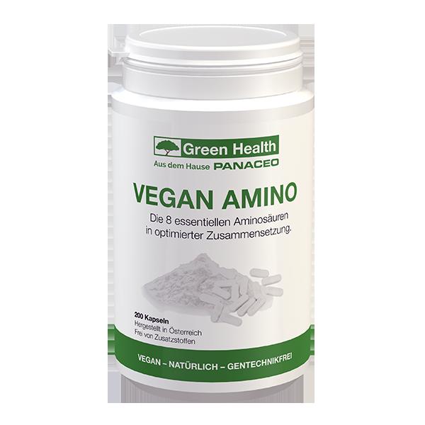 Green Health Vegan AMINO - 200 Kapseln