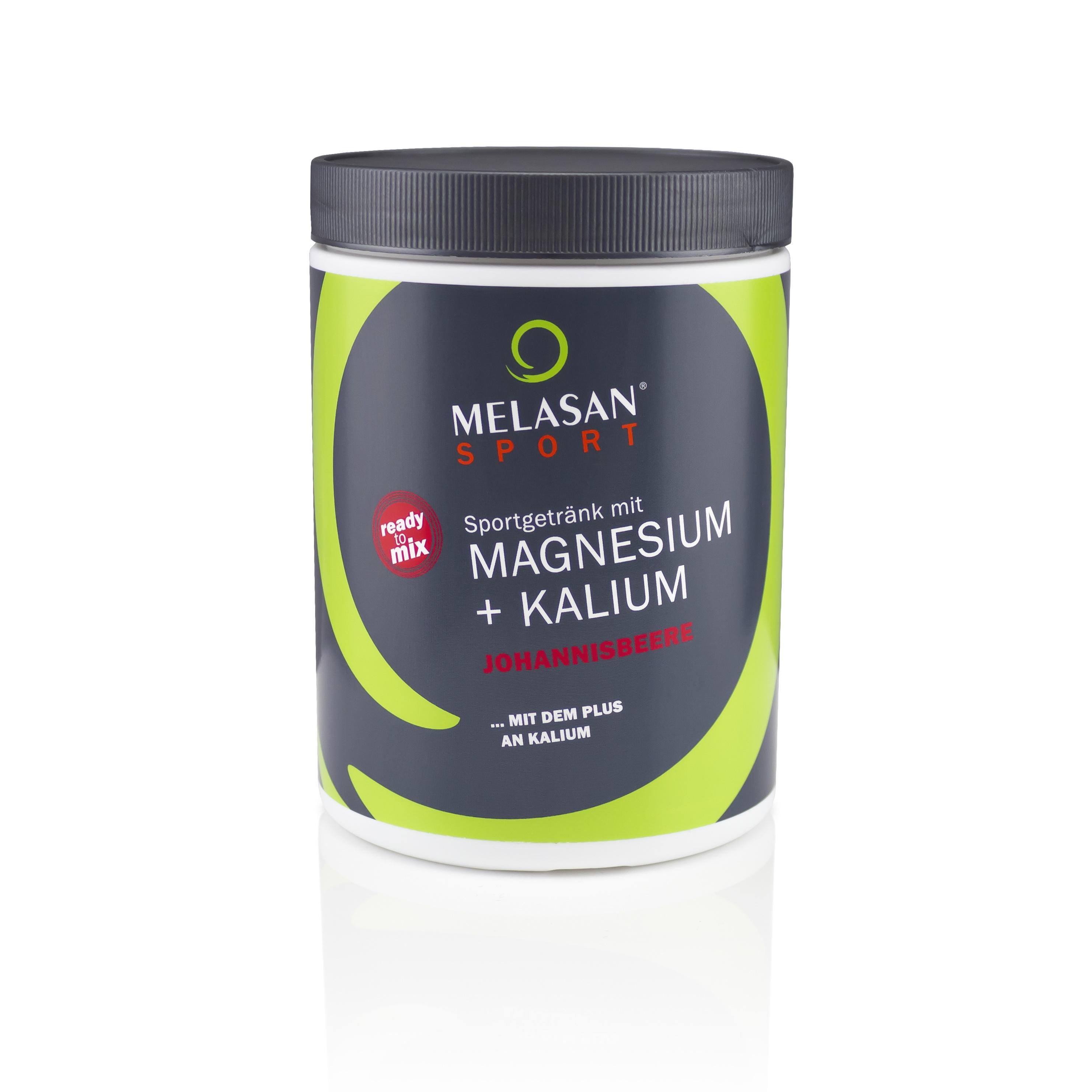 Melasan Sportgetränk Magnesium-Kalium JOHANNISBEERE