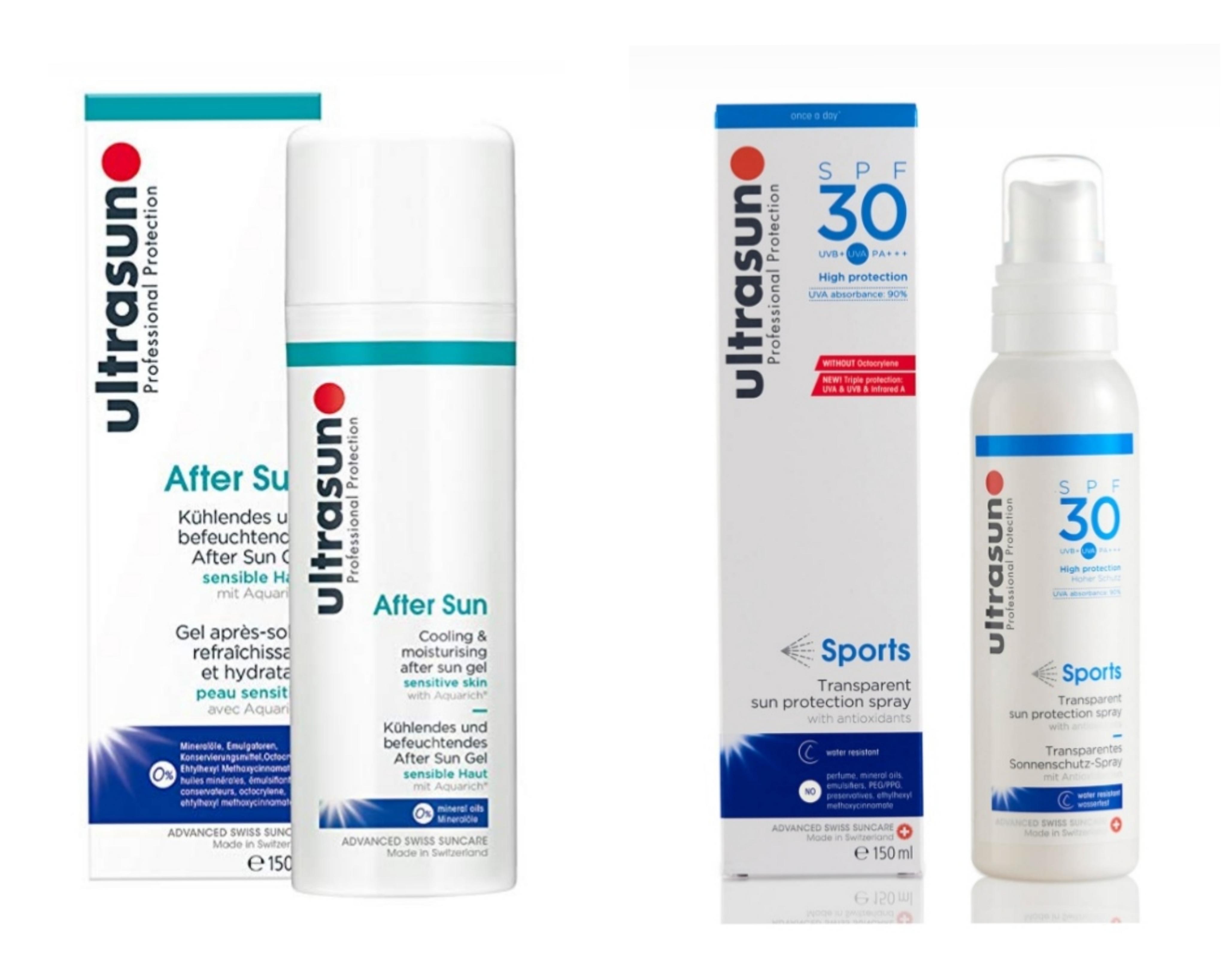 Ultrasun Paket  Sports Spray SPF 30 und After Sun, 150ml