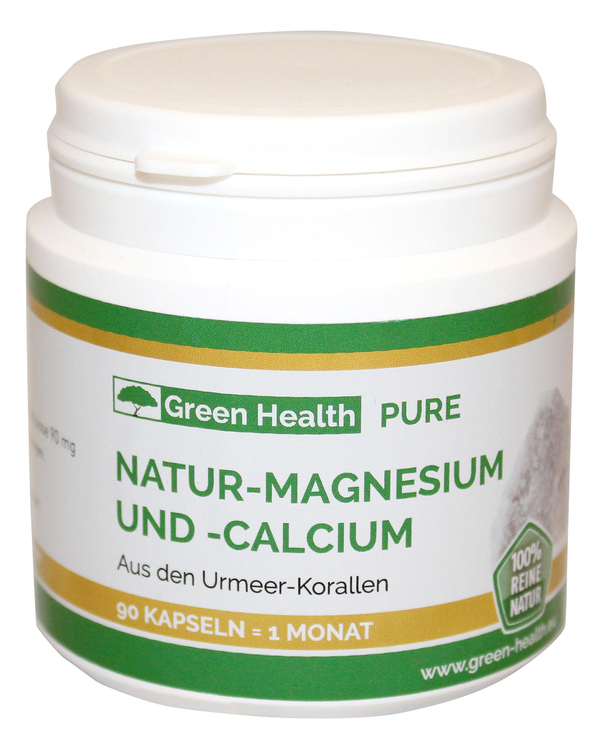 Green Health Natur Magnesium und Calcium - 90 Kapseln